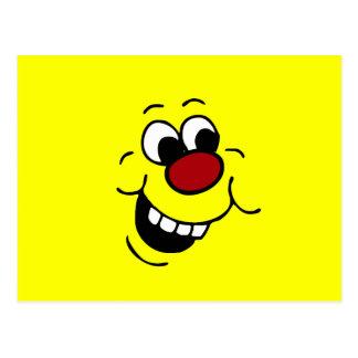 Visage souriant sage Grumpey Carte Postale