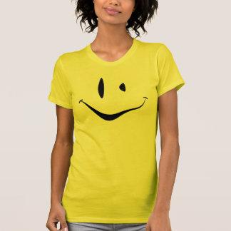 Visage souriant tordu t-shirt