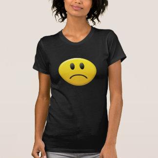 Visage souriant triste t-shirt