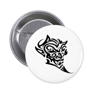 Visage tribal Satan de diable de tatouage Pin's
