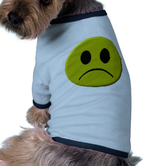 Visage triste t-shirt ringer pour chien