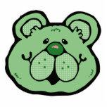 visage vert mignon d'ours photo en relief