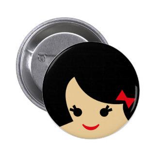 visages 1 d Asiatique Badges