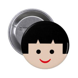 visages 5 d Asiatique Pin's