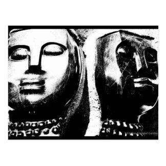 """""""Visages carte postale d'art de JTG d'Afrique du"""