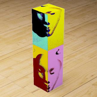 Visages d'art de bruit boîtes cadeaux pour bouteille de vin