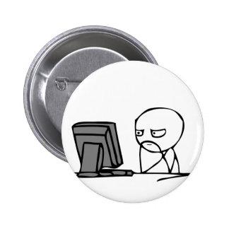 Visages de réaction d ordinateur badges avec agrafe