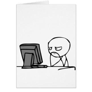 Visages de réaction d'ordinateur carte de vœux