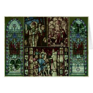 Visages de saint Patrick Carte De Vœux