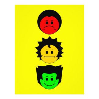Visages déprimés de verticale de trio de feu d'arr prospectus 21,6 cm x 24,94 cm