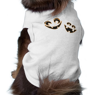 Visages drôles de citrouille t-shirt pour chien