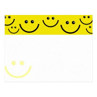 Visages souriants carte postale