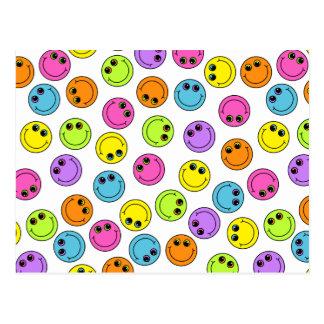 Visages souriants colorés cartes postales