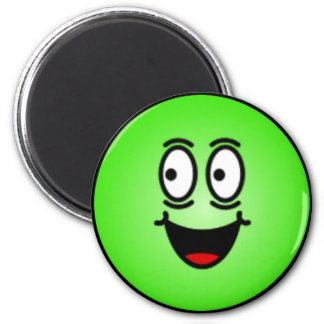 Visages souriants idiots de luxe magnet rond 8 cm