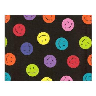 Visages souriants - multicolores cartes postales
