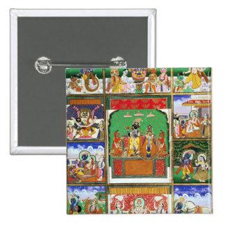 Vishnu au centre de ses dix avatars, Jaipur, R Badge