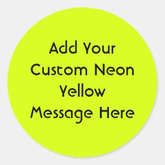 Visibilité jaune et élevée au néon sticker rond