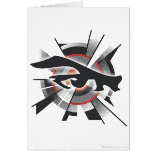 Vision de laser carte de vœux