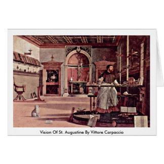 Vision de St Augustine par Vittore Carpaccio Carte De Vœux