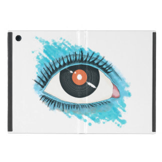 Vision musicale : eye illustration with vinyl coque iPad mini