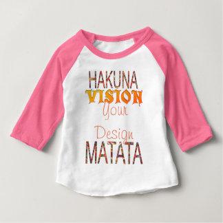 Vision votre conception Hakuna Matata T-shirt Pour Bébé