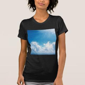 Visions de bleu de ciel de nature t-shirts