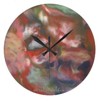 """visions horloge murale dans nuages"""