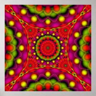 Visions psychédéliques de mandala d'affiche