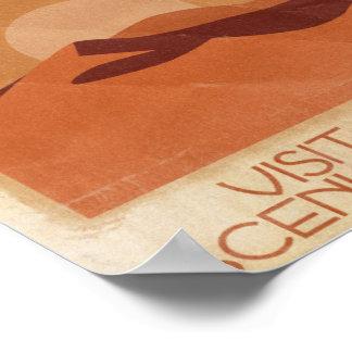 Visite Arrakis pittoresque - affiche vintage de vo