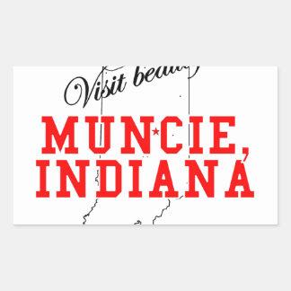 Visite beau Muncie, Indiana Stickers En Rectangle