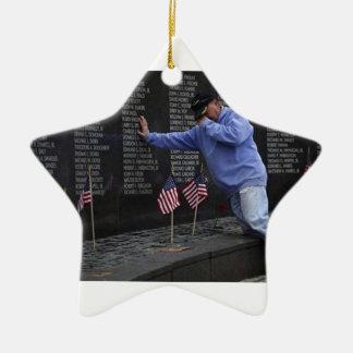 Visite du mur commémoratif du Vietnam, DC de Ornement Étoile En Céramique