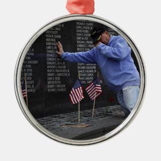 Visite du mur commémoratif du Vietnam, DC de Ornement Rond Argenté