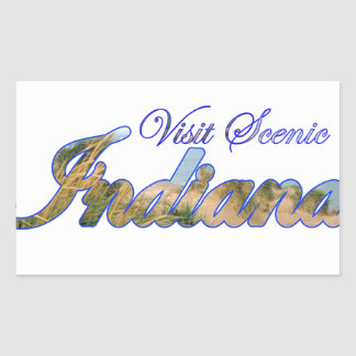 Visite Indiana pittoresque Sticker En Rectangle