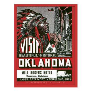 Visite l'Oklahoma Etats-Unis CORRECTS vintage Cartes Postales