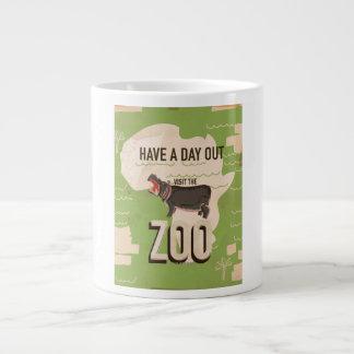 Visitez l'affiche vintage de voyage de zoo mug jumbo