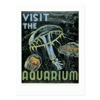 Visitez l'aquarium - l'affiche de WPA - Carte Postale