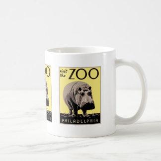 Visitez le zoo mug blanc