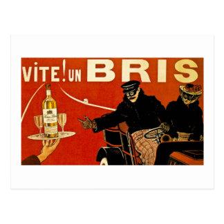 Vite ! Brie de l'ONU - annonce vintage de Français Carte Postale