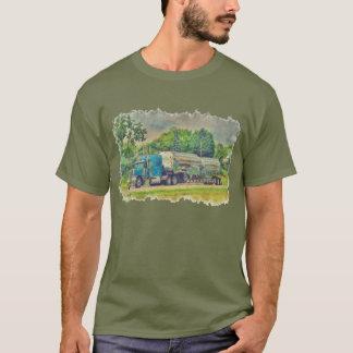 Vitesse bleue de chauffeur de camion de t-shirt