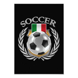 Vitesse de fan du football 2016 de l'Italie Carton D'invitation 8,89 Cm X 12,70 Cm