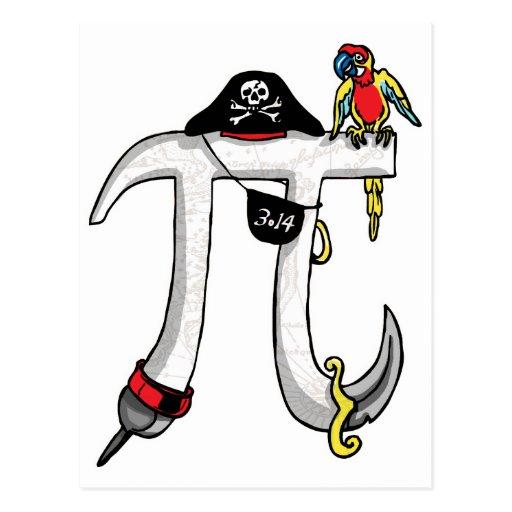 Vitesse de jour du pirate pi cartes postales