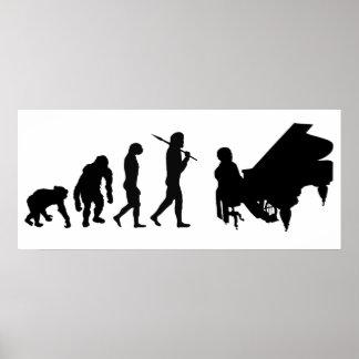 Vitesse de Mozart de compositeur d'orchestre de pi Posters