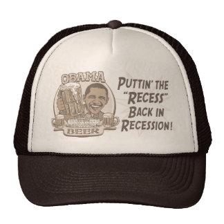Vitesse de récession de bière d'Obama anti Casquette Trucker