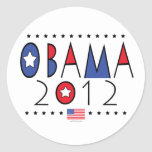 Vitesse du Président Barack Obama 2012 Adhésifs Ronds