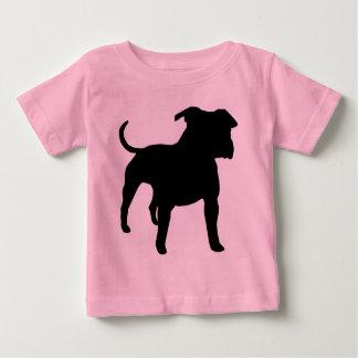 Vitesse du Staffordshire Terrier américain T-shirt Pour Bébé