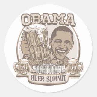 Vitesse indépendante de sommet de bière d'Obama Autocollants