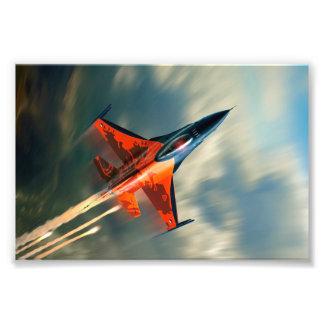 Vitesse militaire d'avion d'avion de chasse photographie d'art