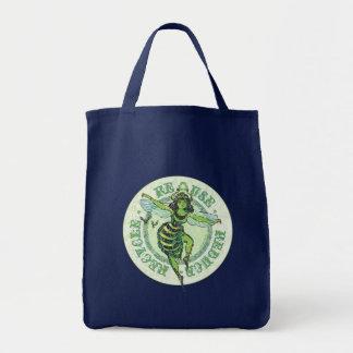 Vitesse verte de jour de la terre d'abeille sac