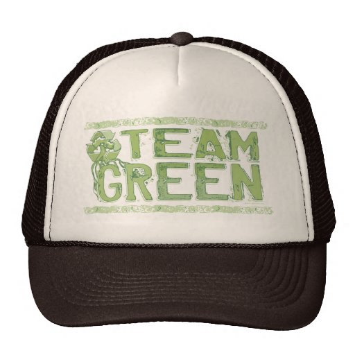 Vitesse verte de jour de la terre d'équipe casquettes
