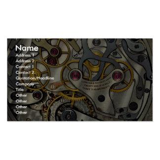 Vitesses abstraites de montre carte de visite standard